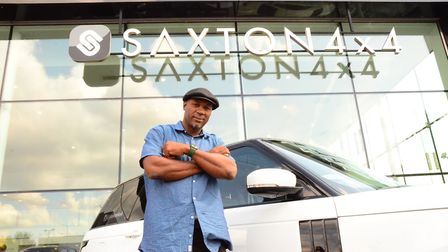 Lennox Lewis has been supplied with a Range Rover Vogue by Saxton 4x4 during his time in London (pic