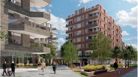 The 11 blocks of one to four bedroom apartments could look like this. Photo: Sheppard Robson