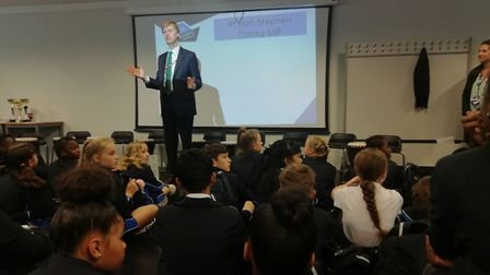 East Ham MP Stephen Timms at Oasis Academy Silvertown. Picture: Alex Shaw