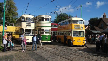 A busy Chapel Road Terminus at the East Anglia Transport Museum