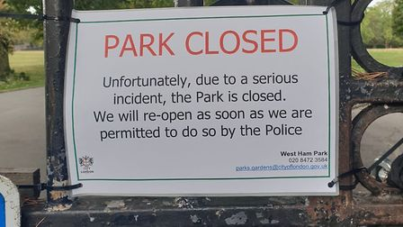 West Ham Park is currently closed. Pic: Nasir Noor