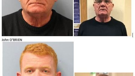 Michael and John O'Brien are wanted in connection with fraud offences. Photo: Metropolitan Police