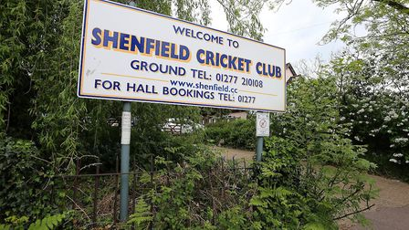 Signage outside Shenfield Cricket Club (pic George Phillipou/TGS Photo)