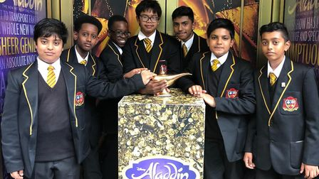 St Bonaventure's book club on their trip to see Aladdin in the West End. Picture: St Bonaventure's S