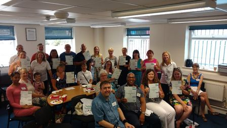 A presentation lunch by the My Health Matters community project in July, which trains Havering resid