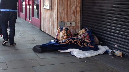 Rough sleepers on the streets of Romford this week. Picture: Archant