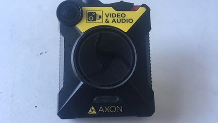 A body-worn camera, which officers would wear at all times during patrols. Picture: Rhiannon Long