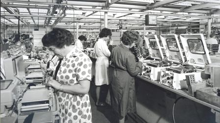 Women working in the Kelvin Hughes factory, 1964. Picture: Redbridge Heritage Centre