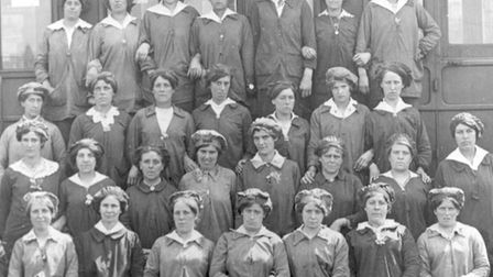 Female railway workers, in the First World War. Picture: Redbridge Heritage Centre