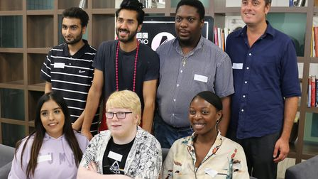 Morrilyn and Azeez were among the freshers who spoke to UEL's Tim Lomas (right), a doctor of psychol