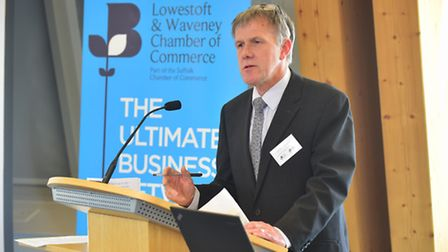 Lake Lothing Crossing Consultation at The Orbis Energy Centre, Lowestoft. James Reeder, chair of Low