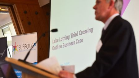 Lake Lothing Crossing Consultation at The Orbis Energy Centre, Lowestoft.James Reeder, chair of Lowe
