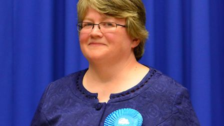 Therese Coffey is declared the MP for Suffolk Coastal In the parliamentary elections at Martlesham.