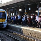 Passengers waiting for a c2c train at Upminster station. Photo: PA Wire/Nick Ansell