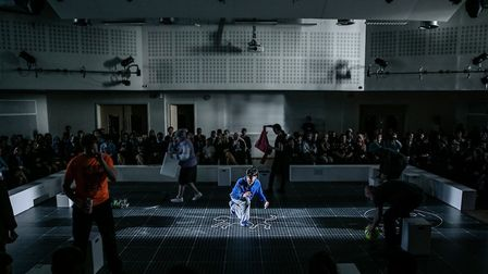 The cast of The Curious Incident of the Dog in the Night time Schools Tour Production. Picture: Rich