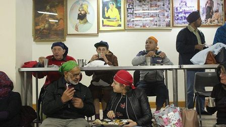 The event culminated in a communal meal, known in Sikhism as Langar, at the Karamsar Gurdwara, in Hi