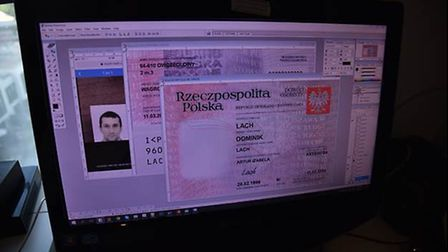 An example of some of the forged documents that investigators found. Photo: NCA
