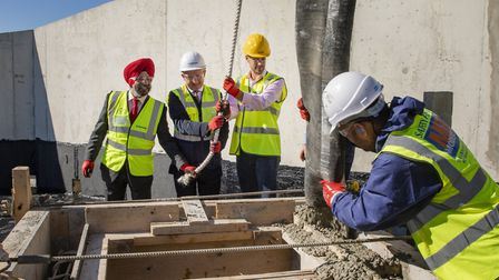 The last piece of concrete has been laid. Picture: Durkan