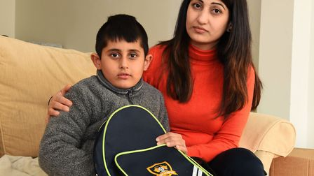 Jas Bhogal with her son Hartej aged 5. Jas is fundraising to raise awareness and donate to the hospi