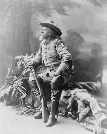 Buffalo Bill in 1903, around the time of his first performance in Essex.