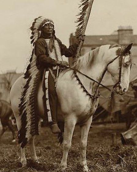 Chief Iron Tail during the 1904 tour which visited Ilford.