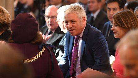 Commons Speaker John Bercow at the the memorial service at Southwark Cathedral, London for the forme