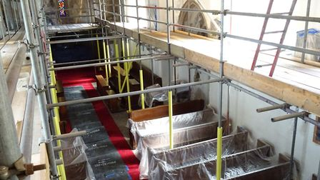The interior of St Mary Magdalene Church, which is undergoing £40,000 restoration work. Picture: Qui