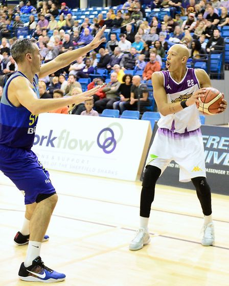 Action from London Lions win at Sheffield (pic Graham Hodges)