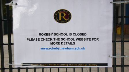 Rokeby School in Canning Town is closed due to a false widow spider infestation. Picture: Ken Mears