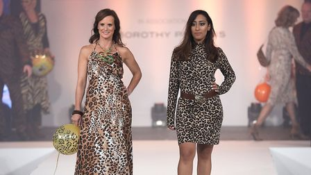 Rowan Hostler attended the Breast Cancer Care London Fashion Show in association with Dorothy Perkin