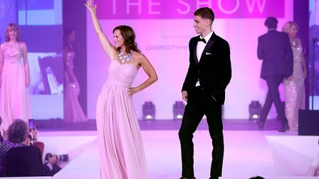 Breast Cancer Care models walk the runway during the Breast Cancer Care London Fashion Show in assoc