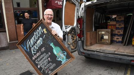 Landlord Ron Bolwell has sold the lease on the Denmark Arms and is moving to his other pub the Queen