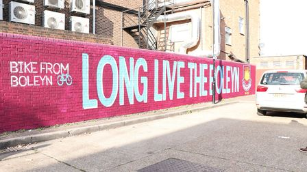 A mural marking the protest over West Ham United's move to the London Stadium has been unveiled in E