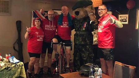 Former servicemen took part in a charity fundraiser at The Bull a few weeks ago that raised £2,500 f