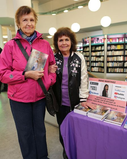 Left to right: Moira Clark from Wanstead with Author Irene Martinez.