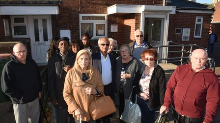 Patients who are unhappy about the threatened closure of the West Ham Clinic. Pic: Ken Mears
