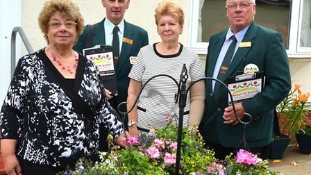 Anglia in Bloom judges visit Lowestoft- Elsie Hubbard and Anne Bolton with judges