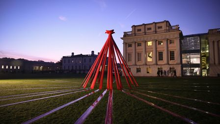 The poppy installation at the National Maritime Museum in Greenwich. Picture: Royal British Legion