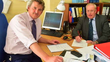 Lowestoft solicitors Rob Barley (left) and James Hartley are preparing a case for keeping Lowestoft