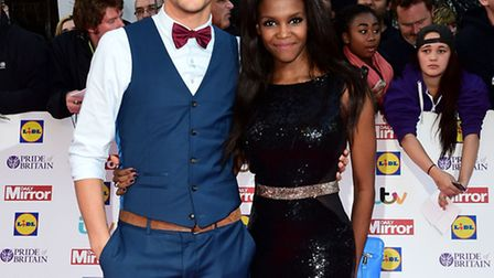 Anthony Ogogo (left) and Otlile Mabuse (right) arriving for The Pride of Britain Awards 2015, at Gro
