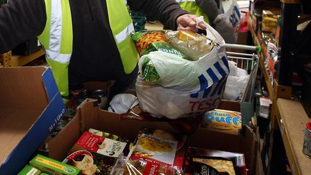 There has been an increase in people using food banks. Picture: David Jones/PA