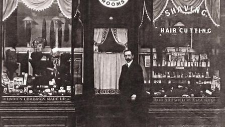 """Ilford barber Theodore Dembon, born in Vienna, was interned as an """"enemy alien"""" in Stratford Camp in"""