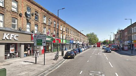 Barking Road, one of the high streets criticised for the prevalence of fast food shops. Picture: Goo