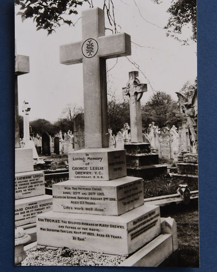 George Drewry's grave. Pic: TERENCE TRIMMER