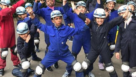 Pupils who tried their hand at potholing. Picture: Shaftesbury Primary