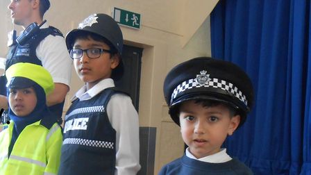 A police visit to the primary school. Picture: Shaftesbury Primary