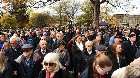 Coronation Gardens was packed full with residents who came to pay their respects to those who sacrif