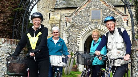 The Suffolk Historic Church Trust Cycle Ride in Blundeston. Picture by: Mick Howes.