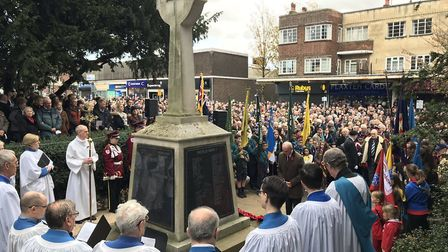 The town of Upminster held a moving parade and Remembrance service to mark 100 years since the end o