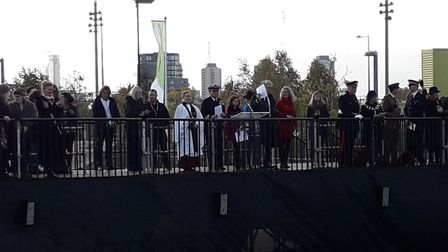 The service in Queen Elizabeth Olympic Park. Picture: Sophie Morton